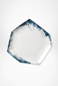Brushstroke Dinner Plate - A work of art. Ceramic Tableware, Glass Ceramic, Ceramic Art, Kitchenware, Plate Design, Ceramic Design, Brush Strokes, Stoneware, Earthenware