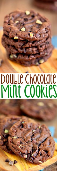 Double Chocolate Mint Cookies - this recipe turns out the most decadent chocolate cookies! Moist, chewy, delicious! | eBay