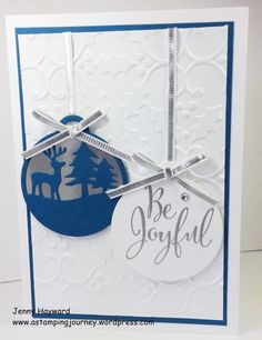 Stampin' Up! Merriest Wishes set and the Merry Tags Framelits. makes an elegant card with the Holly Embossing Folder.
