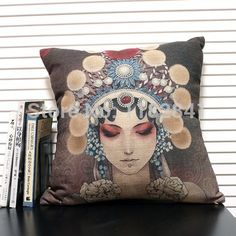 new post-modern neo-classical Chinese opera actress Face pillow cushion new elements of the alternative art cushions