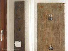 5-Minuten-DIY: Treibholz-Klemmpinnwand // 5-minute-DIY: driftwood pinboard