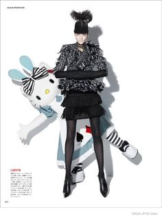 Ai Tominaga Poses with Hello Kitty for Vogue Japan by Tibi Clenci