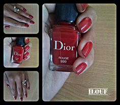 #instgrame : Nails_ilouf   #nails #dior #rouge999 beautiful #hands