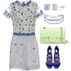 Luisa Beccaria Dress by naviaux on Polyvore featuring мода, LUISA BECCARIA, Chanel, Catherine Malandrino and Ice