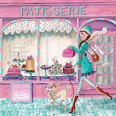 Patisserie Art Print by Caroline Bonne-Muller