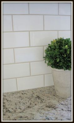 Lucky Star Lane: Mini Kitchen Remodel with Subway Tile and Granite Counters