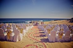 Unique sand writing for your beach wedding at The Westin Resort & Spa, Los Cabos. #Mexico #Cabo