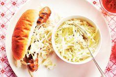Kijk wat een lekker recept ik heb gevonden op Allerhande! Braadworst-hotdog