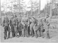 A squad of Finnish infantry. Axis Powers, German Army, World War Two, Troops, Wwii, Winter, Squad, Military, Vehicles