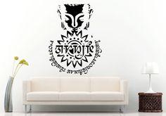 Wall Room Decal Vinyl Sticker Buddha God Mandala Logo Yoga Namaste Quote L890 #3M #VinylPrintArtDecalStickerDecorWallRoomHome