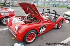Triumph TR-3A 1957 model with a 2,186cc engine (Overseas Run Class)