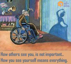 """How others see you is not important. How you see yourself is everything."" #Quote"