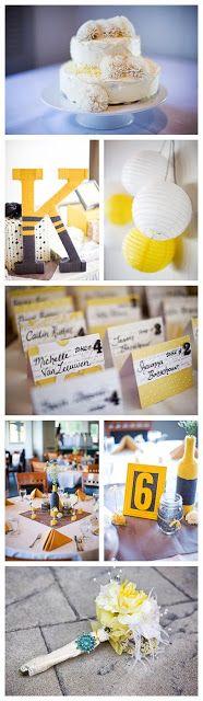 Decoracion de bodas en amarillo | Yellow wedding colors