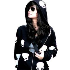 Meilaier Womens Fashion Skull Hoodies Outwear Zip Up Hooded Coats Jackets (XL, Black) Meilaier,http://www.amazon.com/dp/B00ITQ6WO0/ref=cm_sw_r_pi_dp_2MxDtb1TF30ZG7SZ