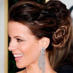 Kate Beckinsale and a high ponytail