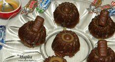 MINI-GUGULUF CU CARAMEL - Retete Haplea Cheesecake Cupcakes, Cheesecakes, Mini, Caramel, Muffin, Cooking Recipes, Pudding, Breakfast, Sweet