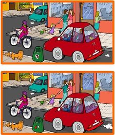 Busca las diferencias. What differences do you see between these two images? Could be used as a Spanish speaking activity or Spanish writing activity. I could only find 3, not sure if there are more...