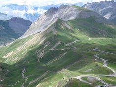 www.pushcycling.com Col du Galibier, one of the most famous mountain passes of the Tour de France