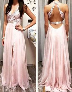 Lace Prom Dresses, Backless Prom Dress, Unique Prom