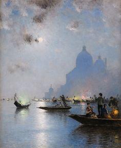 Wilhelm von Gegerfelt Venedig i skymning