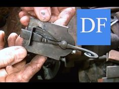 Blacksmithing Project - Forging a Simple Spring Latch - YouTube