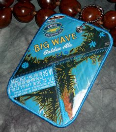 Lugguage Tag from Repurposed Kona Brewing Co Big Wave Golden Ale Beer Labels by squigglechick, $12.00