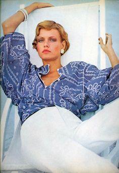 Vogue Editorial May 1974 - Beshka Sorensen by Arthur Elgort Patrick Demarchelier