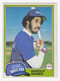 Harold Baines RC # 347 - 1981 O-Pee-Chee Baseball MLB Rookie