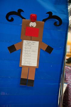 Reindeer name ABC order craftivity (head folds up for word bank)