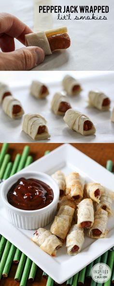 Pepper Jack Wrapped Little Smokies //Yumm!