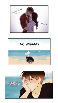 Yes you are an idiot. Lyra is for Ian!!!!<< AHEM shon and lyra love each other Comics Love, Cute Comics, Funny Comics, Fantasy Mermaids, Mermaids And Mermen, Anime Amor, Webtoon Comics, Manga Love, Cute Anime Couples