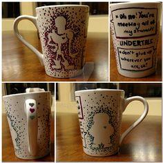 Undertale mug by jusonadow.deviantart.com on @DeviantArt