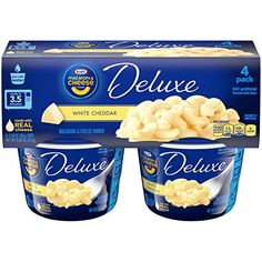 Prepared with real cheese Macaroni & Cheese dinner with premium original flavor Consists of thick cheesy sauce & original flavor Cheddar Cheese Sauce, White Cheddar Cheese, Gourmet Recipes, Snack Recipes, Snacks Ideas, Pasta Cup, Microwave Dinners, Creamy Macaroni And Cheese, Cheesy Sauce