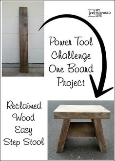 power tool challenge one board project easy step stool time out stool