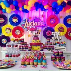 Soy luna♩ Decoracion soy luna para la artista Luciana. #soyluna #luna #partysoyluna #party #decor #barranquilla #colombia #fiestasoyluna #quilla #candy Cumpleaños Soy Luna Ideas, Disney Channel, Skate Party, Paw Patrol Party, Neon Glow, Kids Party Themes, Son Luna, Birthday Decorations, Balloons