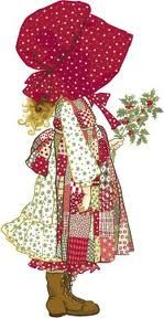 Holly Hobbie in red. I had Holly Hobbie glasses most of my childhood. And never even liked HH. lol