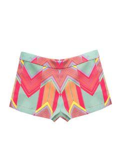 Coastal Zig Zag Pique Shorts