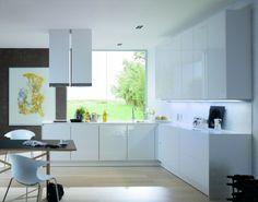 moderne-weiße-Küche