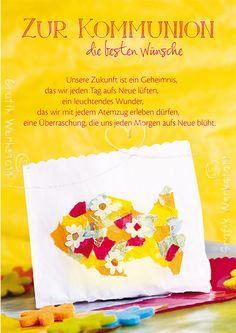 Zur Kommunion - Doppelkarten - Grafik Werkstatt Bielefeld