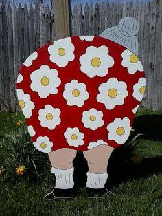 Backside lady Wood Yard ArtGrandma Bending by MikesYardDisplays