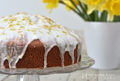 Lancashire Food: Spring Lemon and lime drizzle cake - gluten free