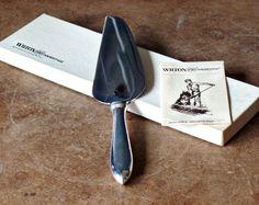 Vintage Silver Pie Server, Wilton Armetale, Stainless Steel, 1981, Original Box, New In Box, Wedding, Housewares