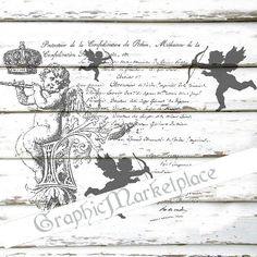 Queen Bee French Wreath Grainsack Shabby Transfer Instant Download
