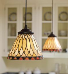 Replace any recessed light with this screw-in Stained Glass Pendant Light – easy… - All For Decoration Screw In Pendant Light, Stained Glass Pendant Light, Stained Glass Lamps, Stained Glass Projects, Glass Pendants, Mosaic Glass, Recessed Light, Mini Pendant, Glass Kitchen