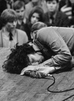 Jim Morrison passed out on stage in Amsterdam. He had eaten an ounce of hash that day, plus popped all the pills the kids gave him.