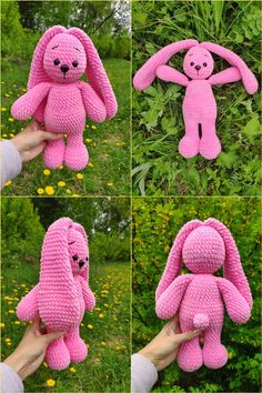 CROCHET BUNNY PATTERN, Amigurumi Rabbit with long floppy ears , Crochet animal patterns, Stuff toy Plush Easter Bunny