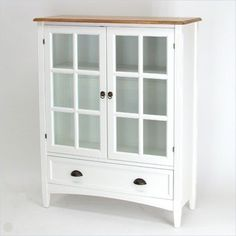 Wayborn 1 Shelf Barrister Bookcase with Glass Door in White - transitional - bookcases cabinets and computer armoires - by Cymax
