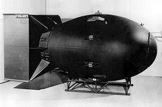 """Replica of the original """"Fat Man"""" bomb"""