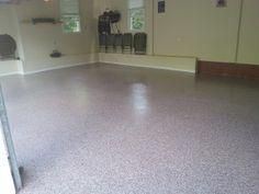 Garage Floor in Whitehouse Station, New Jersey #garagefloor #garageremodel #concretefloor