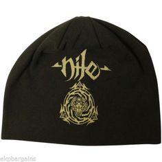 bd0ff6a0e03 Nile Beanie Hat - Scarab  amp  Logo Men s Skull Cap Black Official in  Entertainment Memorabilia